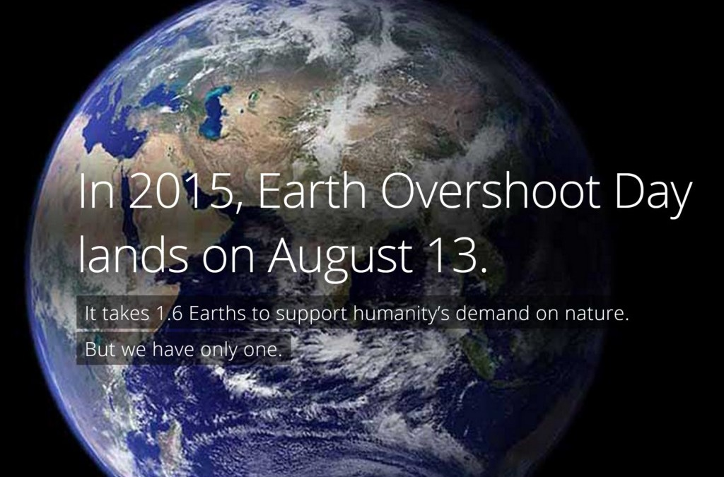 August 13th, Earth Overshoot Day